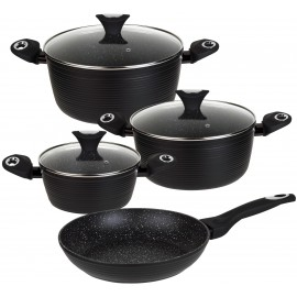 7 pcs marble non-stick cookware set