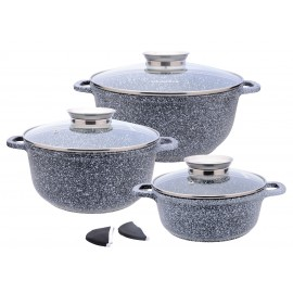 8 pcs casting ceramic marble coating cookware set