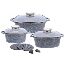 10 pcs casting ceramic marble coating cookware set